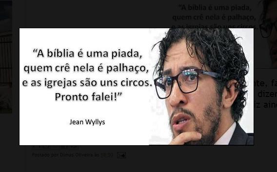 Jean Wyllys Cristão Palhaço